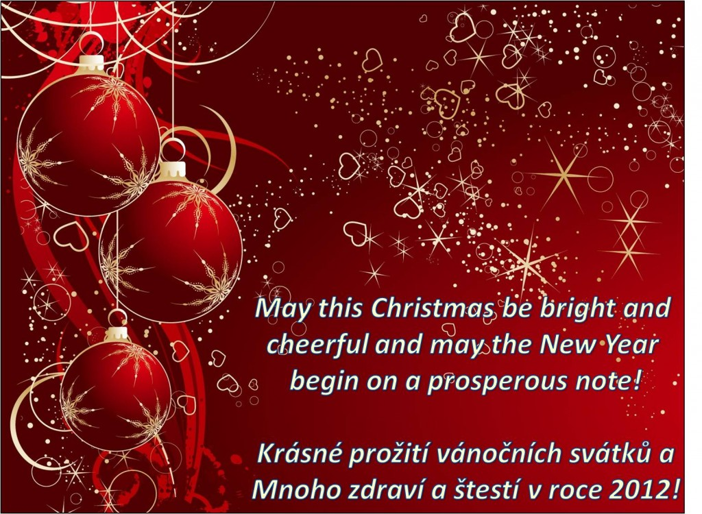 merry christmas and happy new year vesel vnoce a astn nov rok